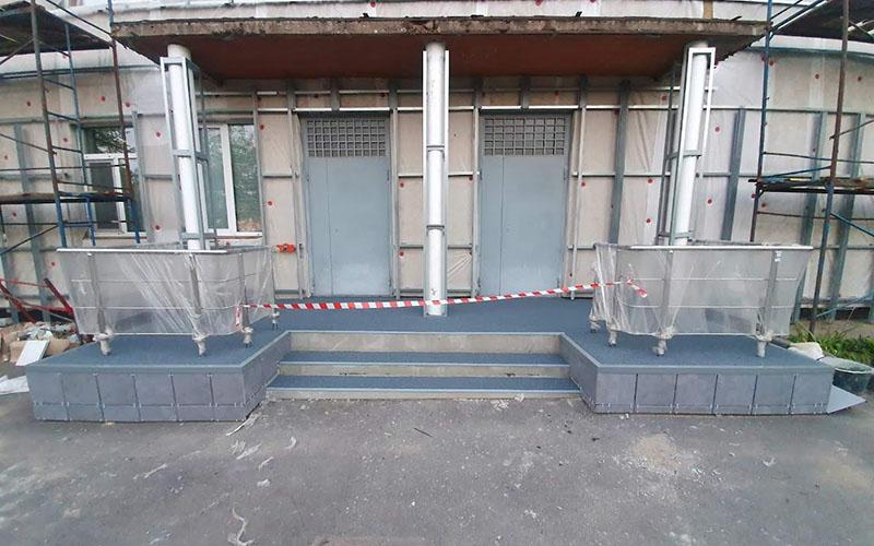 резиновые покрытия для лестниц, отмостков, парковок, пандусов