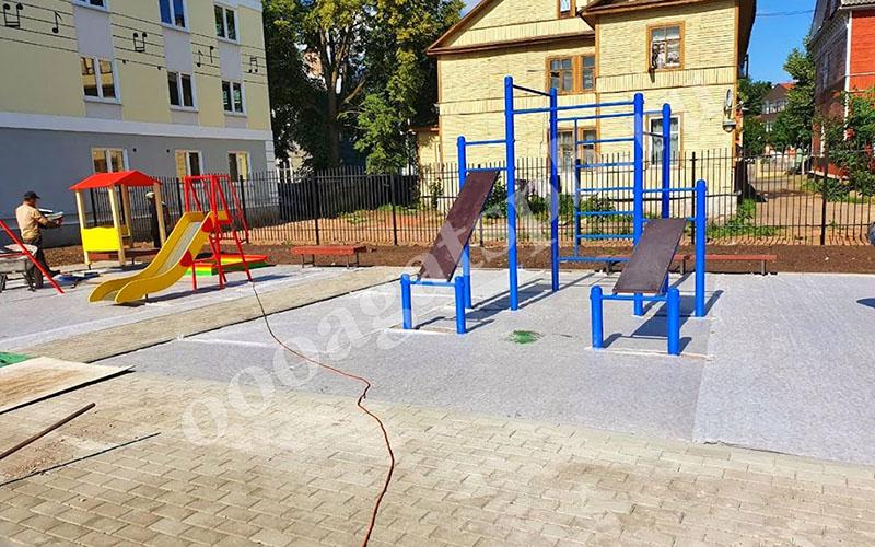 Бесшовные покрытия для детских и спортивных площадок